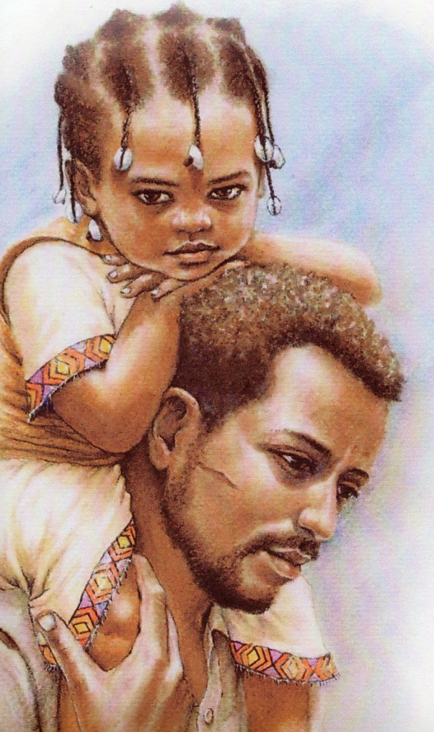 Ethiopian Father and daughter